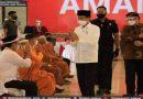 Presiden RI Kunjungi Vaksinasi Covid 19 Tokoh Agama di Masjid Agung Jateng